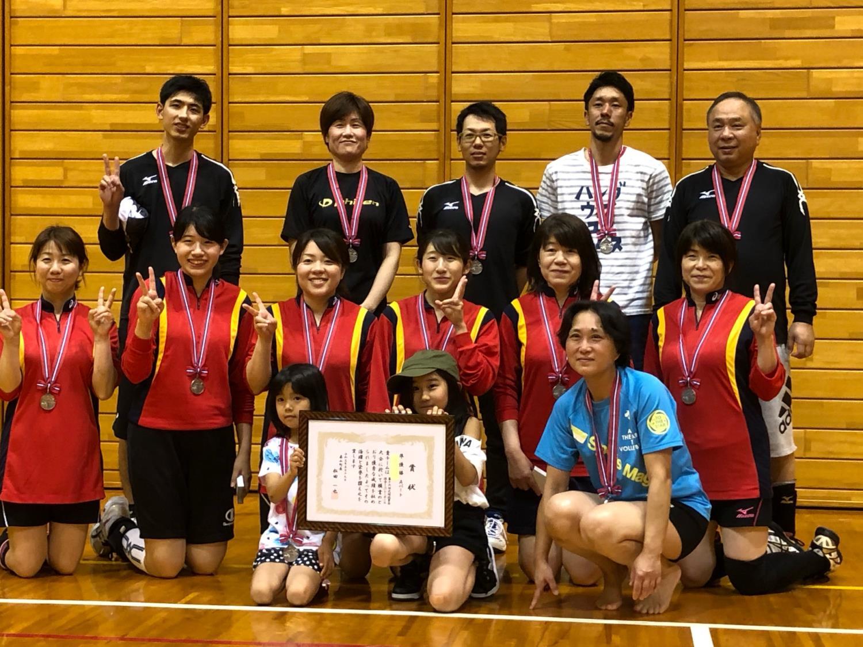 20190519男女混合ミニバレー準優勝